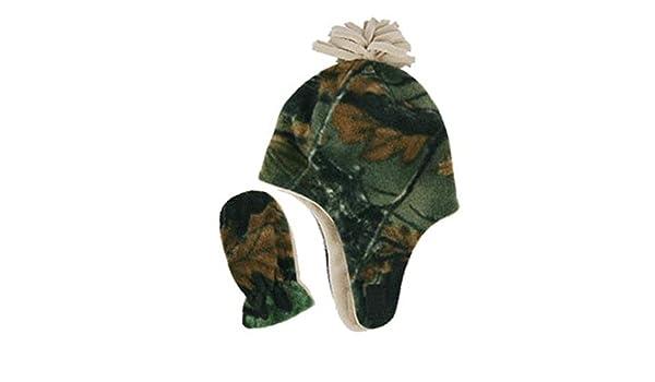 fb9a595ee8c Grand Sierra Little Boys Toddler Fleece Camo Winter Hat   Mitten Set (Tan)   Amazon.ca  Clothing   Accessories