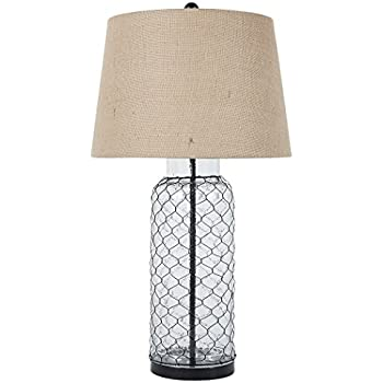 Charming Signature Design By Ashley L430114 Transparent Glass Table Lamp