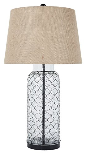 Signature Design by Ashley L430114 Transparent Glass Table lamp (Lamp Table Wire)