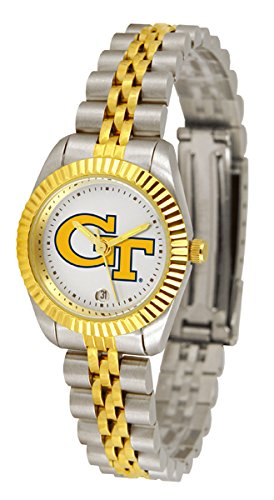 Georgia Tech Yellowjackets NCAA ''Executive'' Ladies Watch (2-Tone Stainless Steel Band)