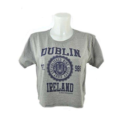 """T-Shirt mit Aufdruck """"Dublin Ireland Est 988"""" und Wappen Dublins, schwarz"""