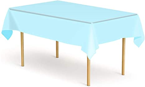 """100/% New 6 Pack Plastic Tablecloth 54/"""" X 108/"""" Rectangle Disposable Table Cover"""