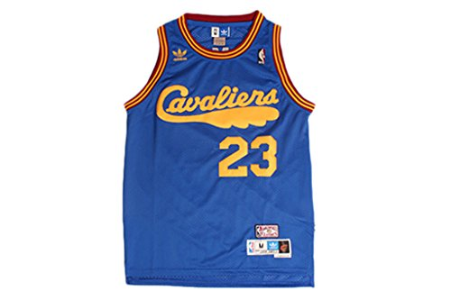 [Pnony Men's Cleveland Cavaliers #23 LeBron James Classic Retro basketball jerseys] (Classic Jason Costume)
