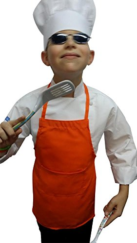 CHEFSKIN RED APRON + WHITE HAT SM fits Kids 2-8 SCHOOL, HALLOWEEN for $<!--$11.50-->