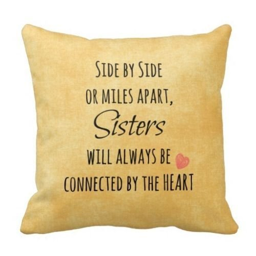 CCTUSGSH Quote A Good Gift For Sister Cotton Throw Pillow Case Cushion Cover 18 X 18 Inches One Side williams5665 Syncw
