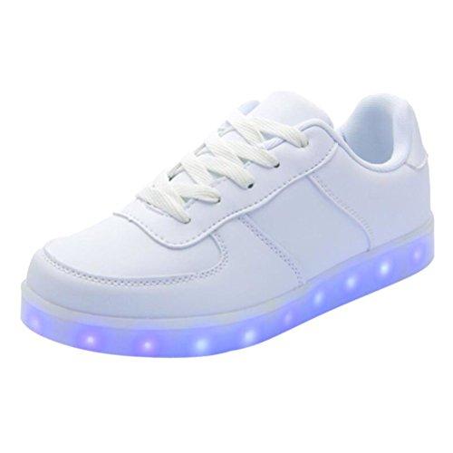 [Present:kleines Handtuch]JUNGLEST 7 Farbe Unisex LED-Beleuchtung Blink USB-Lade Turnschuh-Schuhe D