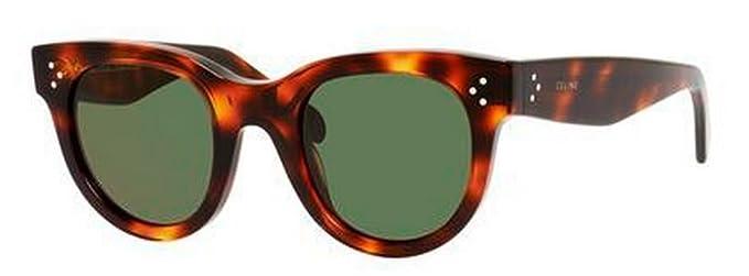 69c2be0c3b4b Celine 41053 S 05D Havana Baby Audrey Cats Eyes Sunglasses Lens Category 3  Size  Amazon.co.uk  Clothing