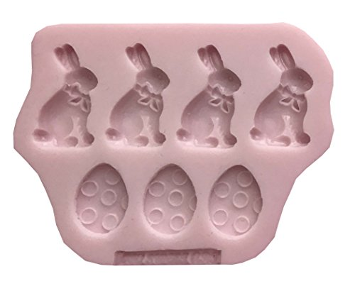 Easter Bunny eggs Rabbits Bunnies III Silicone Mold By Oh! S