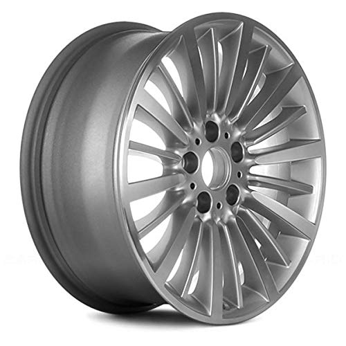 (Replacement 20 Spokes Machined and Silver Metallic Factory Alloy Wheel)