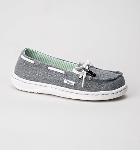 Shoe Grey Classic Moka Canvas Deck Women's Shoes Dude waIqxt70E