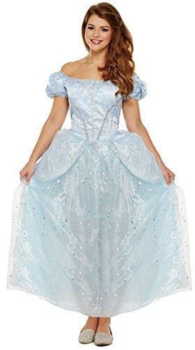 Damen lang blau Prinzessin Halloween Märchen Junggesellinnenabschied ...