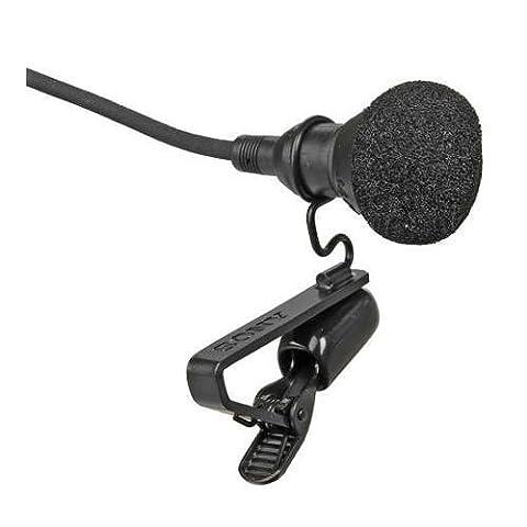 Sony ECM-44BPT Electret Condenser Lavalier Microphone, 40 Hz to 15 kHz Frequency Response, Black (Sony Ecm Lavalier)
