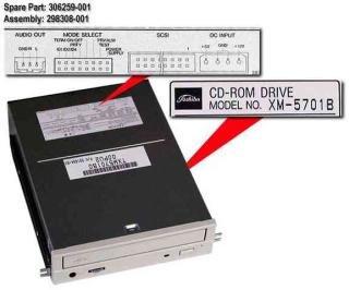 COMPAQ 306259-001 12X SCSI CDROM DRIVE BEIGE BEZEL INTERNAL 306259-001 - Compaq 12x Scsi Cd Rom