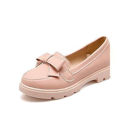 DFGBDFG PDX/Chaussures Femme similicuir Talon Plat Bout Pointu/Bout fermé talons Bureau & carrière/robe/décontracté Noir/bleu/rose