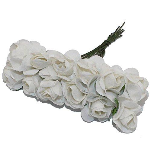 Mulberry Paper Flower Bouquet Artificial Rose Flowers 144 pcs/lot ZG0117 (1.White)