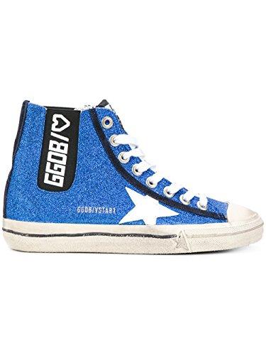 Gouden Gans Damen G31ws638n1o Blau Leder Hi Top Sneakers