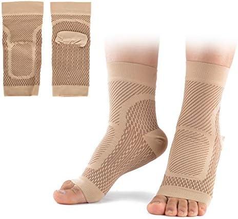 Alomejor 1 Paar Plantarfasziitis Socken Outdoor Sport Kompressionssocken Fußgelenk Bandage für Fußlinderung Schmerzen Knöchelschutz Gelenkschutz