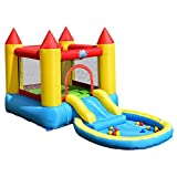 LordBee Durable Inflatable Kids Slide Bounce Safe House with 580w Blower Stable Colorful Outdoor Garden, Lawn, Park