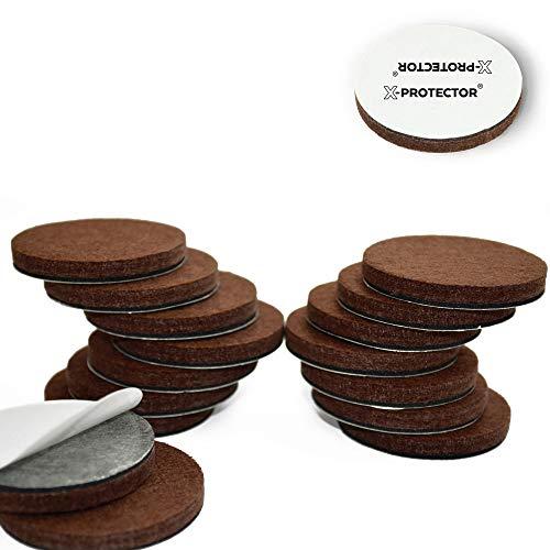 """Felt Floor - X-PROTECTOR Premium 16 Thick 1/4"""" Heavy Duty Felt Furniture Pads 2""""! Felt Pads for Heavy Furniture Feet – Best Felts Wood Floor Protectors for NO Scratches Sliders. Protect Your Hardwood Floor!"""