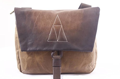 Handmade Brown Leather and Beeswax Canvas Medium Backpack, Stylish Unisex Rucksack by Ruth Kraus