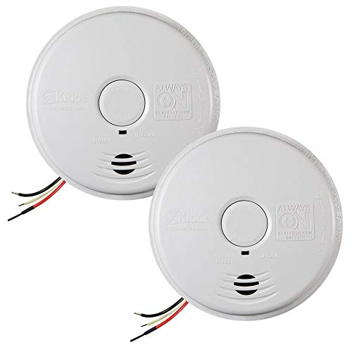 Kidde 120-Volt Hardwired Worry Free Smoke Alarm with 10-Year Battery Backup (2-Pack)