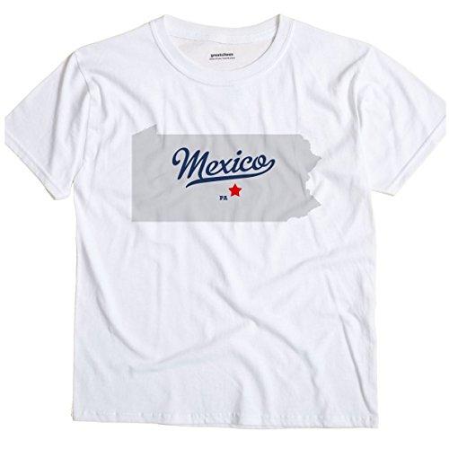 Mexico Pennsylvania PA, Juniata County MAP GreatCitees Unisex Souvenir T Shirt