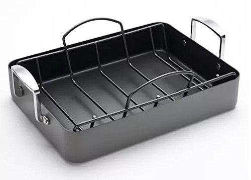 Food Network Roasting Pan and Rack - Dishwasher-safe Hard Anodized