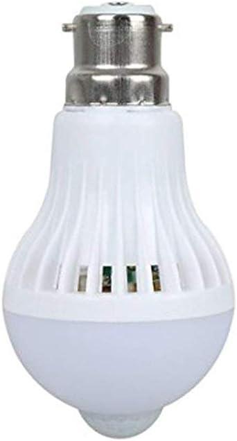 scoolr B22 9 W Bombilla LED PIR sensor de movimiento por infrarrojos automático interruptor luz nocturna luz de bajo consumo para interior exterior porche pasillo casa cocina escaleras luz nocturna: Amazon.es: Iluminación