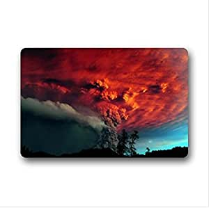 Best Custom Puyehue Volcano Chile Pattern Design Volcano Non-Woven Fabric Top,Indoors/Outdoors Doormat 23.6 x 15.7 by icecream design