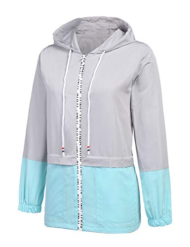 ZEGOLO Women's Raincoats Waterproof Packable Windbreaker Lightweight Active Outdoor Hooded Rain Jacket S-XXL