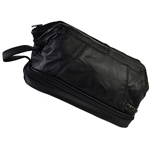 - Metro Leather Wash Bag By Travel Toiletries 2 Sections