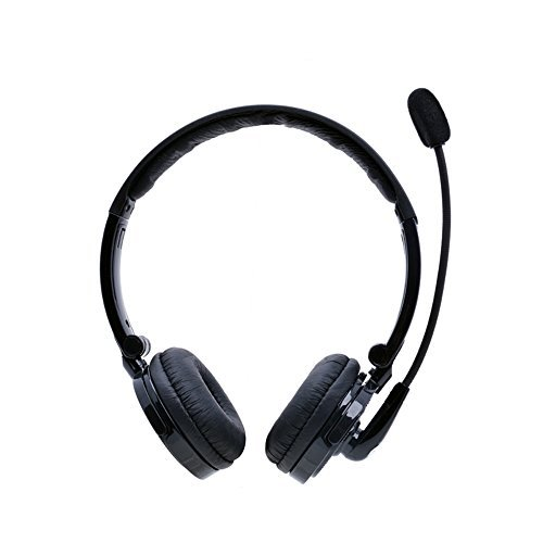 Bluetooth Headset,Pashion 2 in 1 Stereo Handsfree Headset Boom Mic Noise Canceling Wireless Bluetooth Headphones For Cellphones iPhone 4S iPad PC PS3 Skype For Drivers