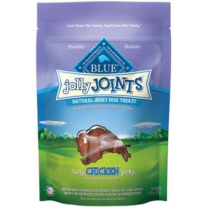Blue Buffalo Jolly Joints Chicken Jerky Dog Treats, 3.25-Ounce, My Pet Supplies
