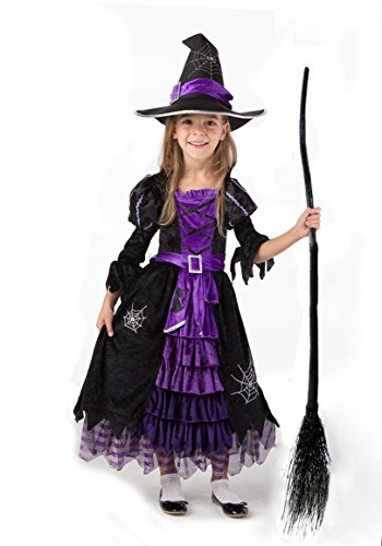 Witch Costumes (Spooktacular Creations Fairytale Witch Cute Witch Costume Deluxe Set for Girls (S 5-7))