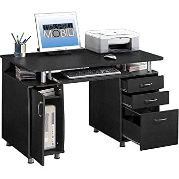 Techni Mobili Solutions Super Storage Computer Desk, Espresso