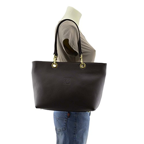 en style Sac glands de panier cuir avec Marron des tSSqAd