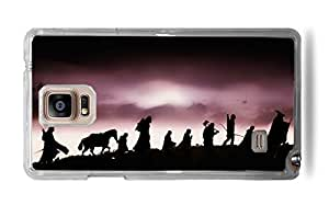 Trendy Accessories LOTR The Fellowship Of The Ring Design Pattern Print Cover Clear Hardshell Case for Galaxy Note 4