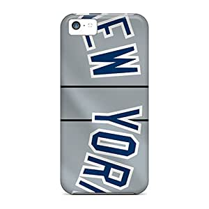 Shock Absorbent Cell-phone Hard Cover For Iphone 5c (RmV19559TeaR) Custom Fashion New York Yankees Pattern