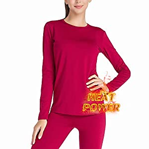 MANCYFIT Thermal Underwear for Women Long Johns Set Fleece Lined Ultra Soft