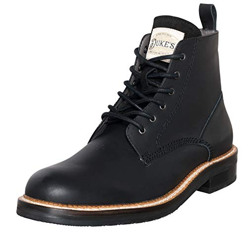 Duke's Mens Boots - Austin Leather Boot with Premium Cushion Insole - Eagle Leather Boot