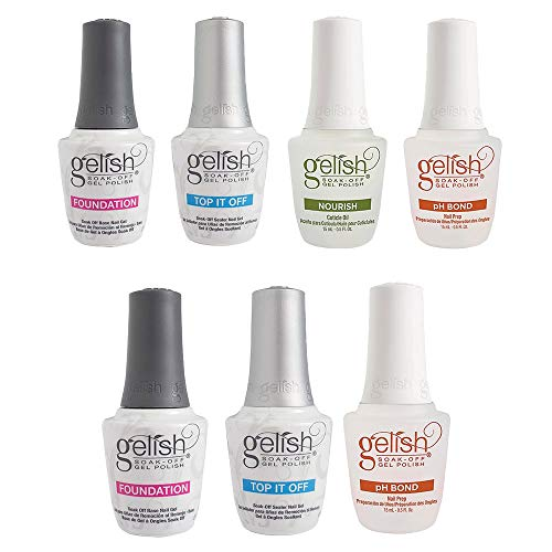 Gelish Terrific Trio Essentials Collection Soak Off Gel Nail Polish Kit, 15 mLGelish Fantastic Four Essentials Collection Soak Off Gel Nail Polish Kit, 15 -