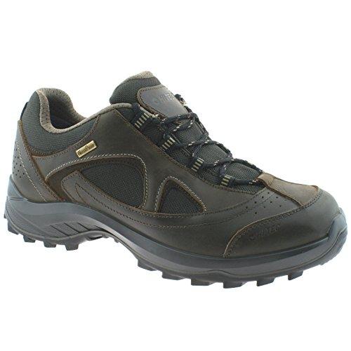 MENS HI-TEC WALK LITE CAMINO WATERPROOF BROWN LEATHER MESH WALKING SHOES -UK 9 (EU 43)