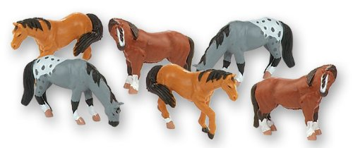 Wild Republic Horse Figurines Tube, Horse Action Figures, 6Piece Set ()