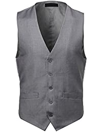 Youstar Men's Contemporary Classic Fit Stylish Contrast Vest
