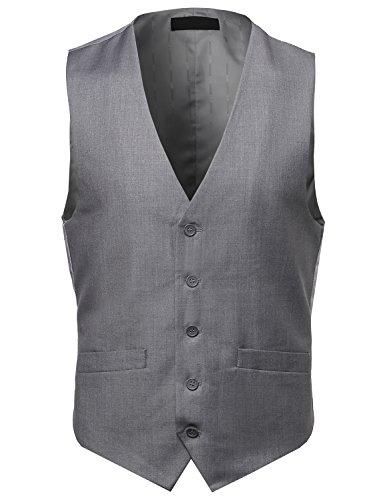 Grey Stripe Suit Jacket - 5