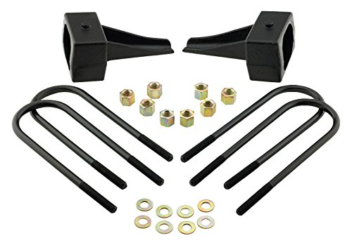 Pro Comp Suspension 62246 Level Lift Block With U-Bolt Kit Rear Lift Height 4 Inch Incl. 2 Rear Lift Blocks 4 U-Bolts Eight Thick Flat Washers Eight U-Bolt Nuts Level Lift Block With U-Bolt Kit ()