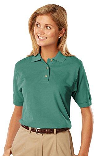 01 -Short Sleeve Cotton Polos-Polo Shirts (XL, Jade) ()