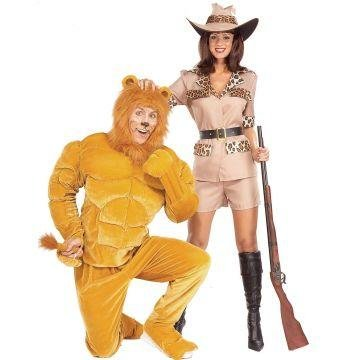 Twosomes-Safari So Goodie Costume (Men's Adult Regular Size) (Twosome Costumes)