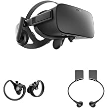 Oculus Rift Virtual Reality headset + Oculus Touch Controllers + Oculus Rift Earphones Bundle [Old Version]