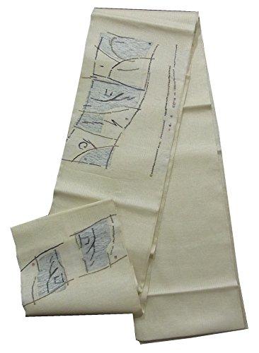 ジョージハンブリー反毒スクレーパーリサイクル 袋帯  夏物 抽象模様 正絹 お太鼓柄